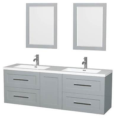 72 in. Double Bathroom Vanity with Drawer in Dove Gray [ID 3471941]