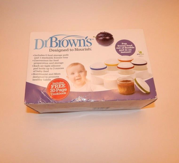 Dr. Brown's Designed To Nourish Flexpods Baby Food Storage Jars New in Box