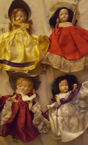 antique porcelain doll(Lot x4) ?All 4 in pictures? Exquisite ? Some damage ? BUY