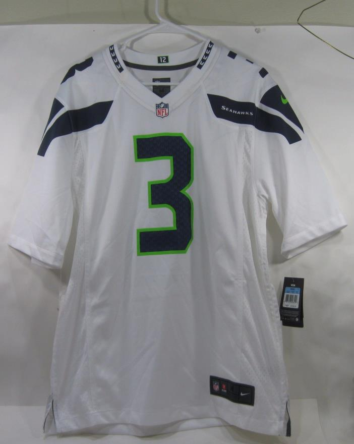 NFL Seattle Seahawks Game Jersey (Russell Wilson) 479401-114 White SIZE  MEDIUM