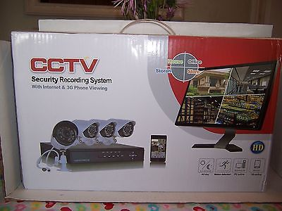 4 CH CCTV DVR NVR 960H Security Camera System, Outdoor IR Night Vision