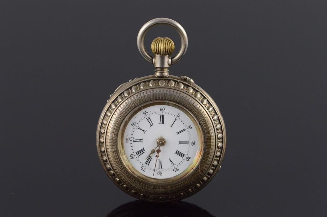 Vintage Swiss 34mm Case Pocket Watch
