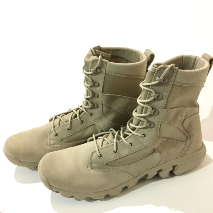 UNDER ARMOUR ALEGENT TACTICAL BOOTS 1236876-290 Sz 13 MILITARY POLICE TAN BEIGE