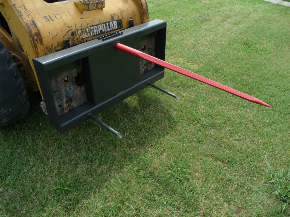 Bobcat Skid Steer Tractor Low Back Hay Bale Spear Attachment -  Ship $149