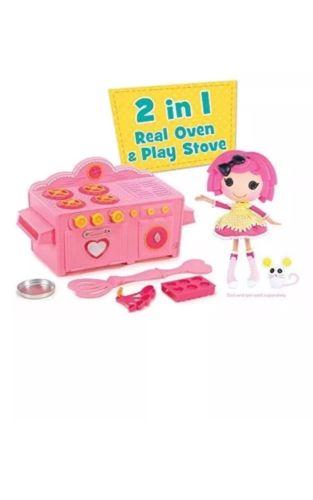 Kids Baking Lalaloopsy Kitchen Play Toy Cooking Pink Real Cookie Cake Pan