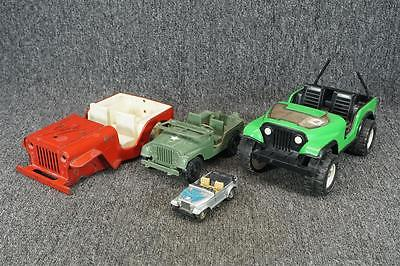 Vintage Lot Of 4 Die-Cast Metal & Plastic Toy Cars