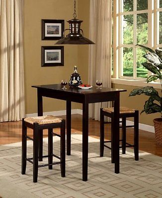 Small Kitchen Table Set 3 Piece Pub Stools Small Accent Compact Rectangular