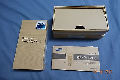 Samsung Galaxy S4 Box and Manual - GT-I9500