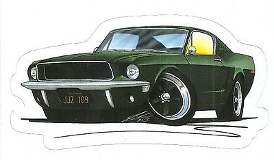 MUSTANG GT 390 BULLITT MOVIE  Sticker Decal