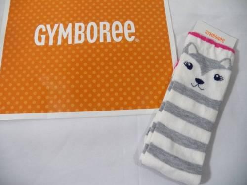 ~Gymboree~ Girls Large Shoe Size 3 Fair Isle Flurry Striped Fox Knee Socks