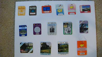 Masters Badge14+ 1 PRACTICE ROUND 1996/ 98/91/93/95/96/98/99/2001/02/04/06/07/08