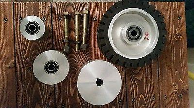 2 x 72 Belt grinder wheels Full set Knife making grinder