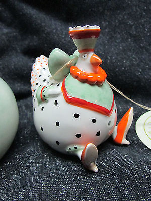 Patience Brewster Krinkles Chicken & Egg Salt and Pepper Magnetic Signed