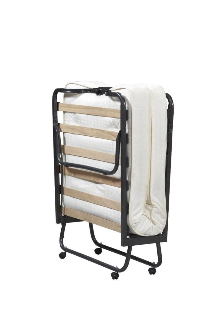 Folding Bed Mattress Guest Cot Away Portable Sleeper New Storage Roll Pull Twin