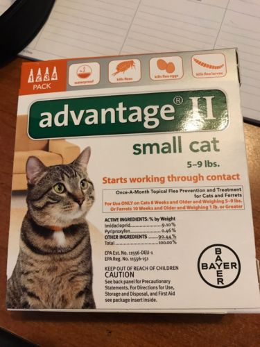 Factory Sealed Advantage II Small cat 5-9 pds 4 pack-Get Your SUMMER ON!!!!!
