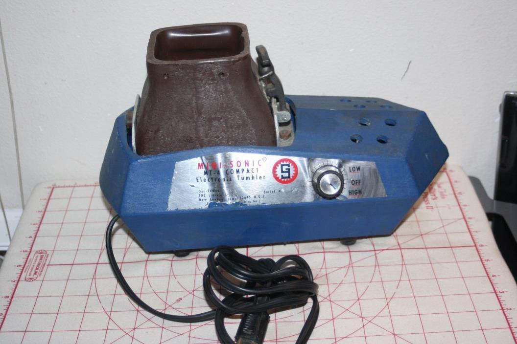 Vintage Mini-Sonic Mt-4 compact electronic Vibratory Tumbler