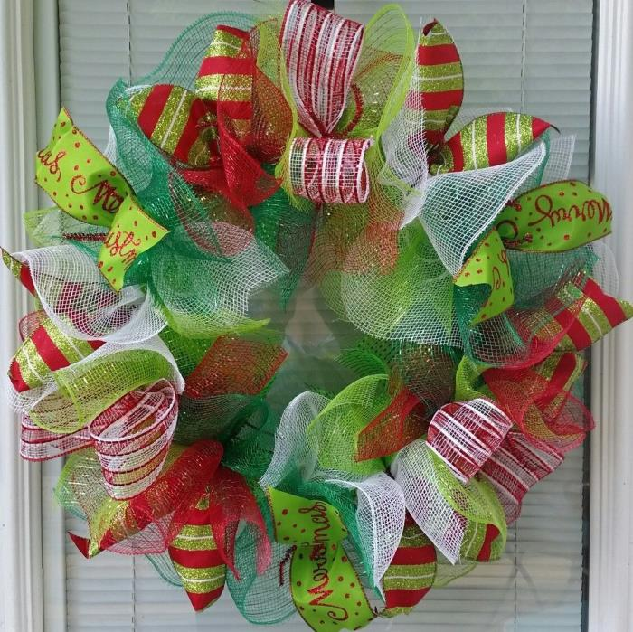 mesh christmas wreaths for sale classifieds. Black Bedroom Furniture Sets. Home Design Ideas