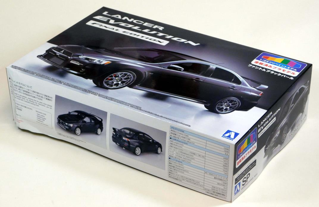 Aoshima 1/24 Lancer Evolution Evo Factory Painted Body Black PLASTIC KIT 5090