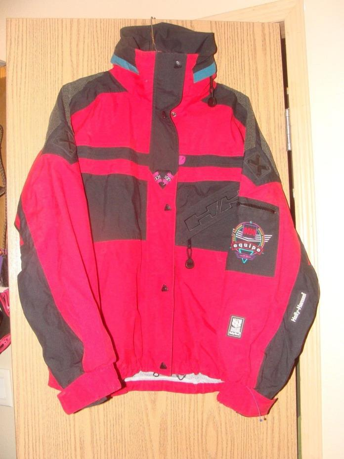 Vtg Helly Hansen Equipe Snowboard Shell Parka Jacket Waterproof Breathable Small