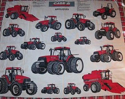 1999 Case International Tractor Sewing Panel Appliques Material Quliting Fabric