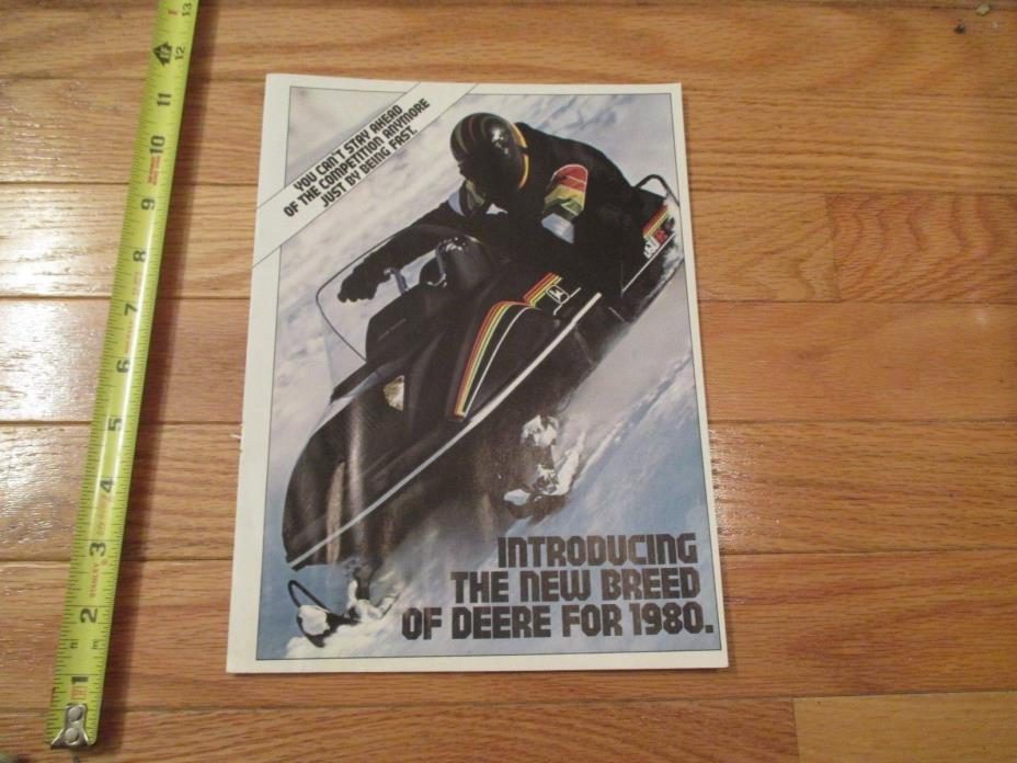1980 John Deere Snowmobile Sales Brochure