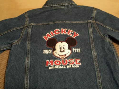 Disney Store denim embroidered Mickey Mouse jacket size children's L