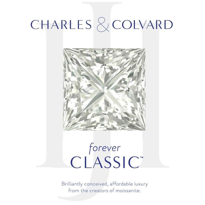 Princess Charles Colvard Forever Classic 4.52 ct Moissanite Loose Stone 9mm