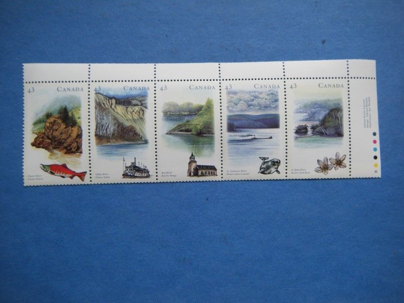 Canada#1485 MNH Booklet Strip 'Heritage Rivers-2' Lot#S10
