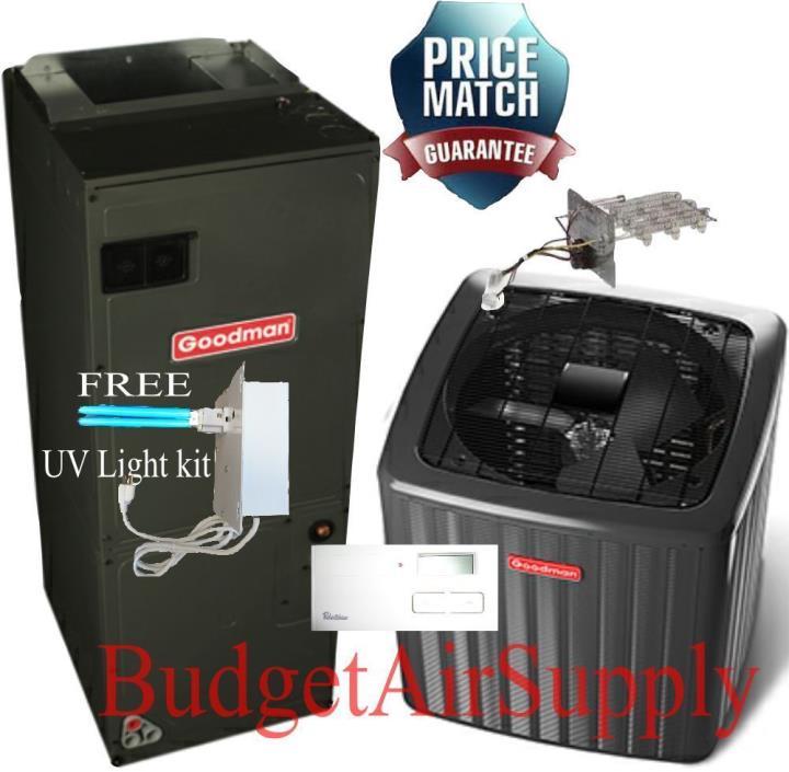 *3 Ton Goodman A/C 14 SEER Air Conditioning Split System GSX140361+ASPT36C14+UV*