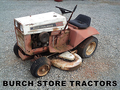 ALLIS CHALMERS 410 LAWN TRACTOR with MOWER DECK