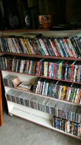 Tons of DVDs, CDs, VHS & Vinyl (Redford)