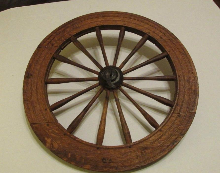 Spinning Wheel Antique Wooden Early Parts Restoration