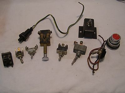 10 Vintage Switches Button Frankenstein Switch Steam Punk
