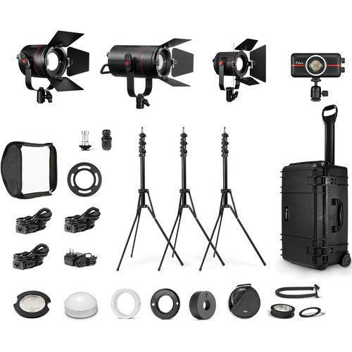 Excellent Fiilex K416 P360EX, P180E, P200, P100 4-Light Travel Kit FLXK416