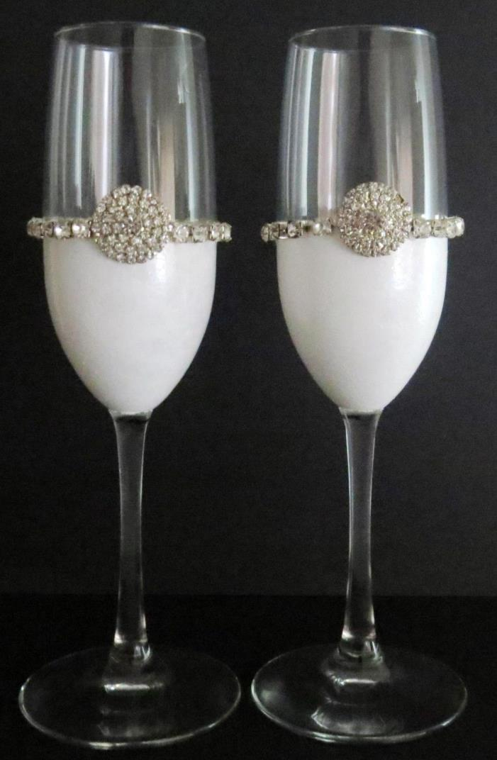 Elegant Wedding Champagne Flutes 8 oz.