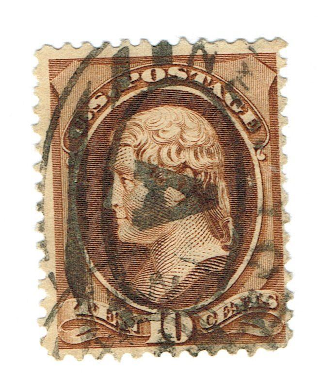 Late 1800's USA - Thomas Jefferson - 10 Cent Stamp