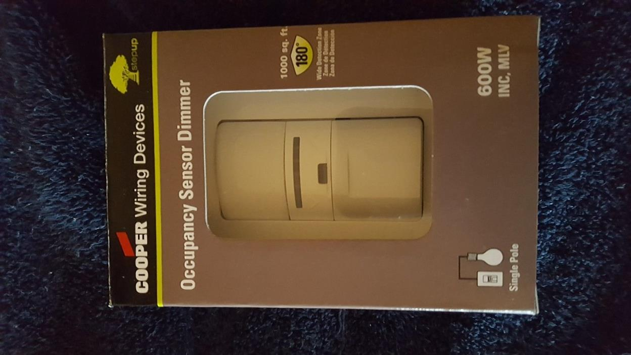 Cooper Wiring Devices OS106D1-W 600W PIR Occupancy Sensor Dimmer Switch - White