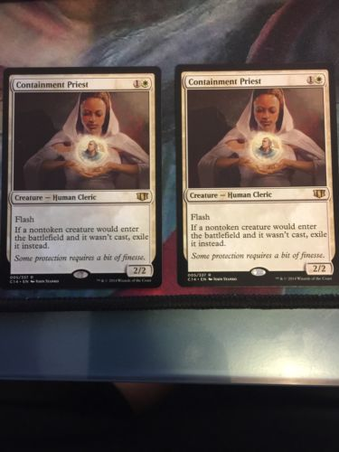 Containment Priest from Magic the Commander 2014 edition N/M