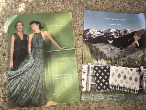 Lot of 2 ANTHROPOLOGIE Catalogs 2016 Issues Autumn Fashion, Home Decor