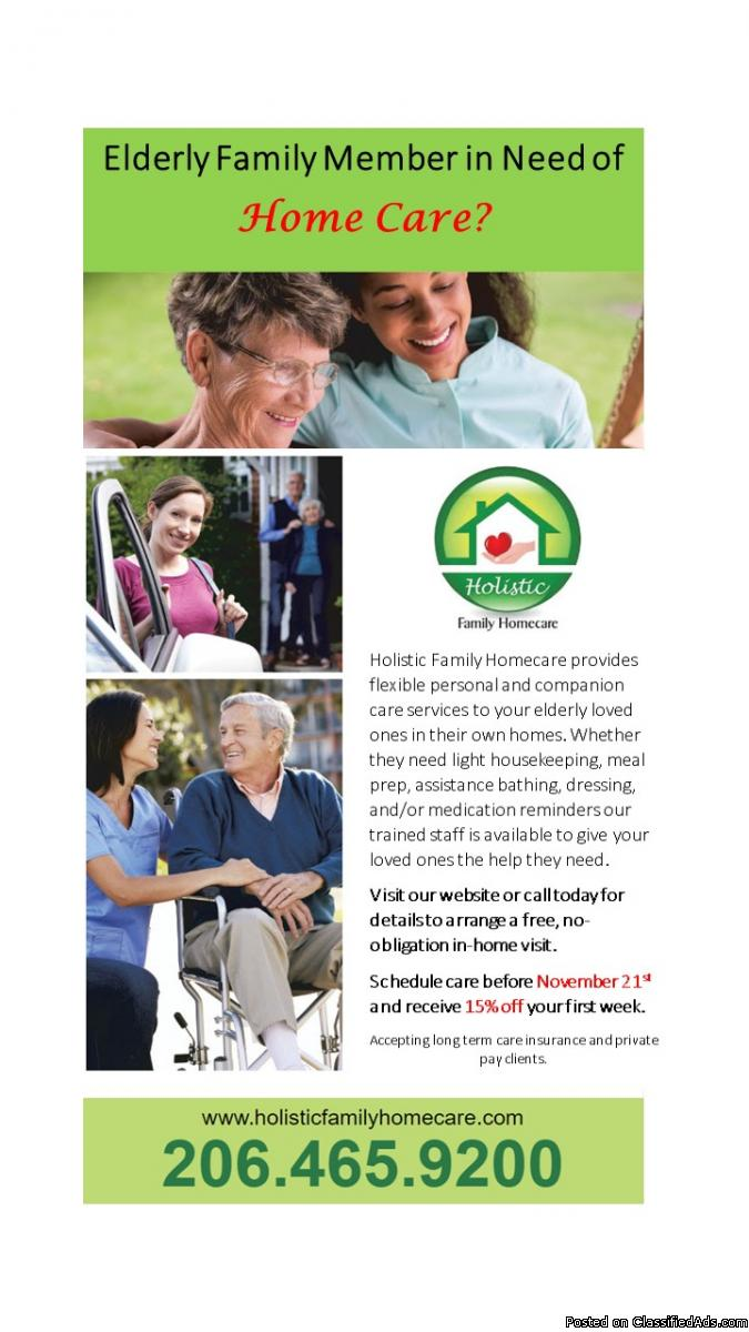 Elderly Family Member in Need of Home Care?