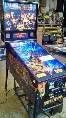 Stern Pirates of the Caribbean pinball machine w/ LED light upgrade rare pin