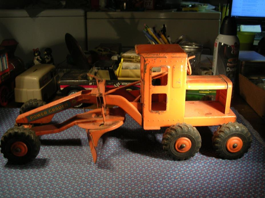 Early Marx Power Grader Road Grader- Orange- 16.5
