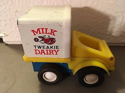 Antique Fisher Price Metal Dairy Truck Toy