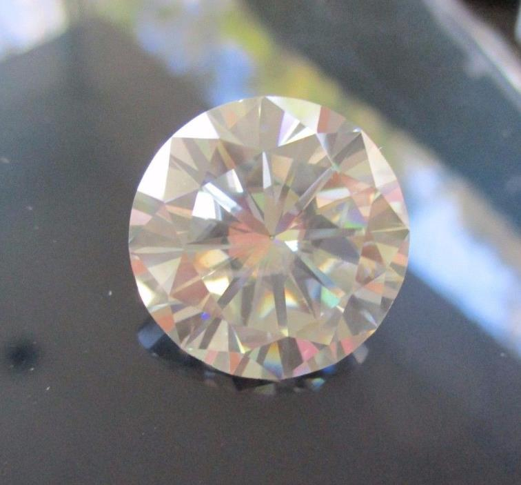 SPECTACULAR!  19.52 ct VS1 18.23 mm OFF WHITE COLOR ROUND CUT LOOSE MOISSANITE