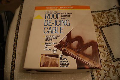 FROST KING RC60 60 FT ROOF & GUTTER ELECTRIC DE-ICING CABLE KIT SNOW ICE