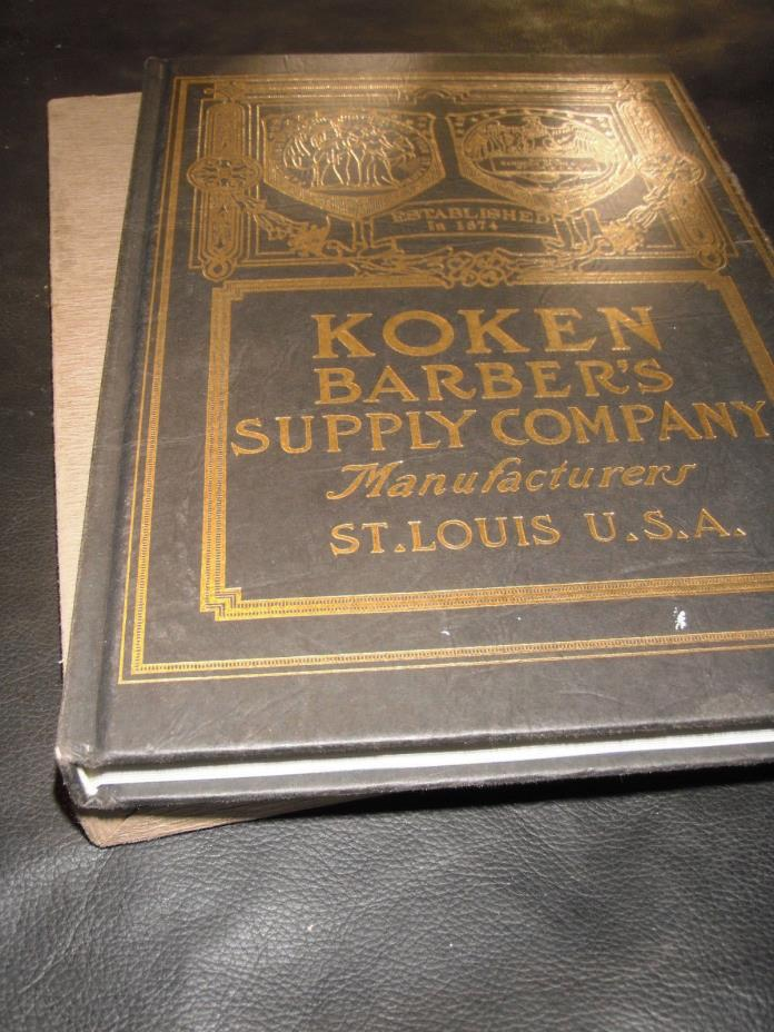 ANTIQUE BARBER SHOP CATALOG--KOKEN 1891--192 PAGES