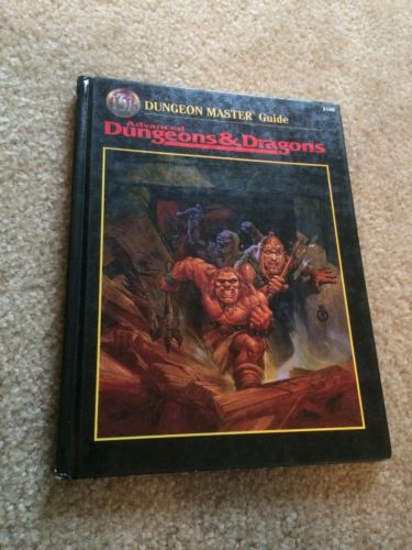 ADVANCED DUNGEONS & DRAGONS DUNGEON MASTER GUIDE HARDCOVER BOOK