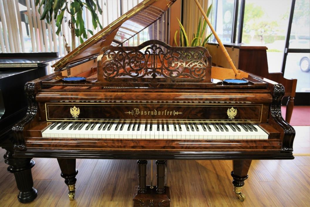 Bosendorfer Concert Grand Piano (very rare fancy case in burl walnut polish)