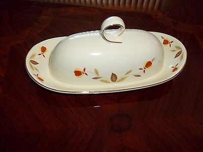Jewel Tea Autumn Leaf by Virginia Lee Ring Butter dish