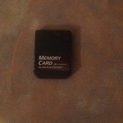 Black PERFORMANCE Brand Memory Card for PLAYSTATION 1 PS1 - 15 Block *Tested*